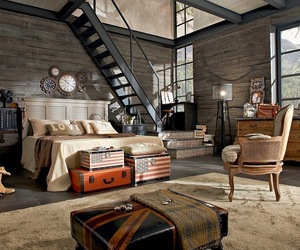 bedroom, Chambre, and industriel image