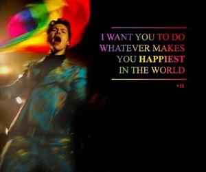 Harry Styles and rainbow flag image