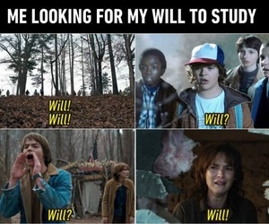 funny, will, and stranger things image