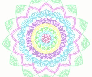 color, flowers, and mandala image