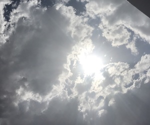 clouds, summer vibes, and sun image