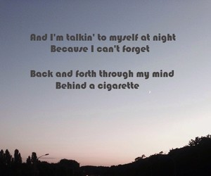 at night, cigarette, and depressed image