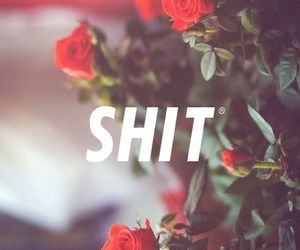 shit, flowers, and rose image