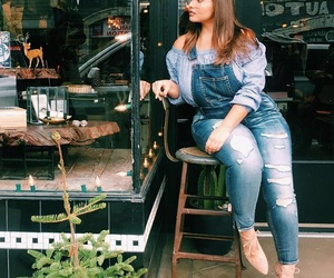 coffe, girl, and plus size image
