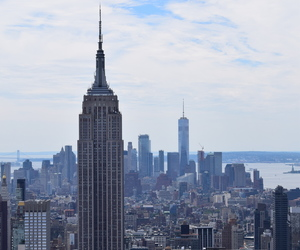 city, new york, and top of the rock image