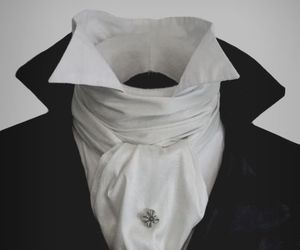 victorian, clothes, and cravat image