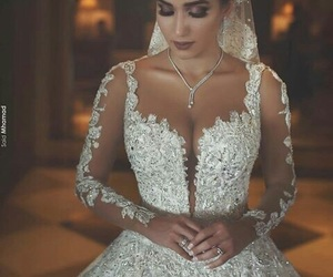 white, dress, and wedding image