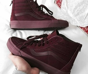 burgundy, red, and shoes image