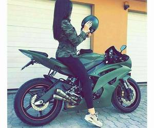 green and motorcycle image