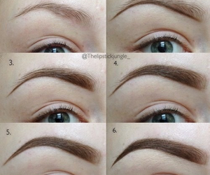 eyebrows, makeup, and diy image