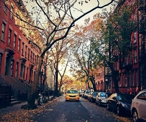 alley, autumn, and grunge image