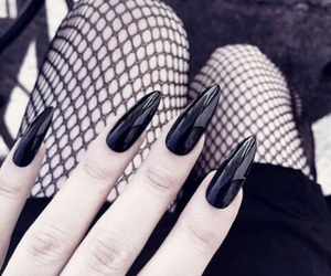 black, nails, and dark image