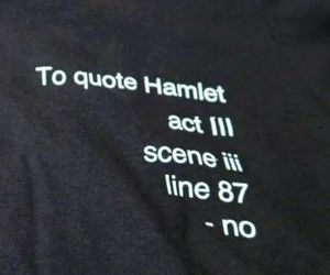 Hamlet and quote image