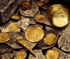 coin, gold, and luxury image