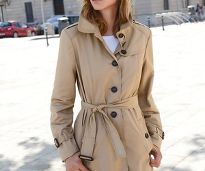 beige, fashion, and ‎trenchcoat image