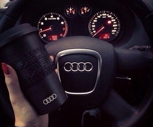 audi, car, and black image