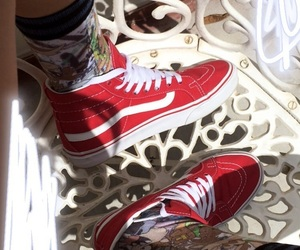 red, stocks, and vans image