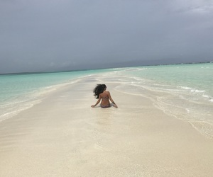 bikini, Maldives, and blackhair image