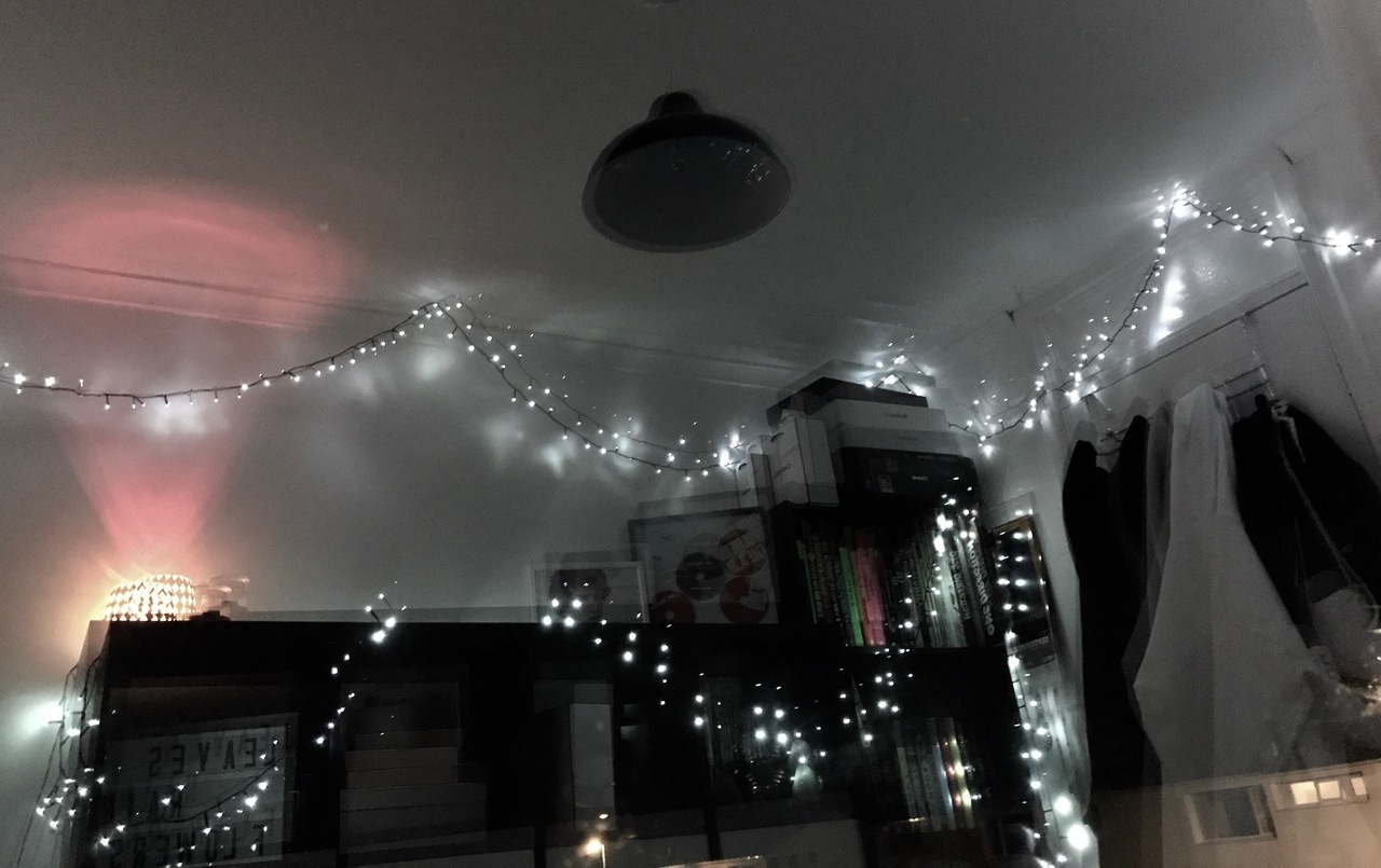 article, bedroom, and lights image