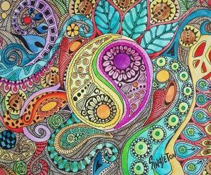 peace, art, and hippie image