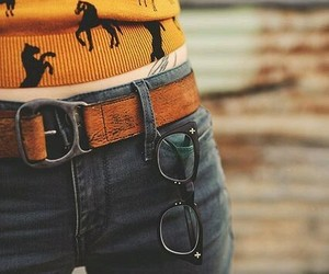fashion, horse, and jeans image