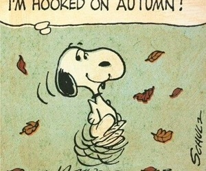autumn, snoopy, and fall image