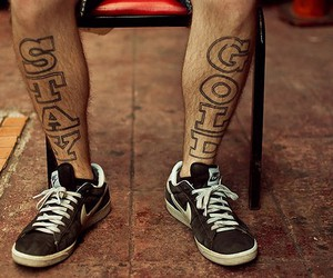 tattoo, nike, and stay gold image