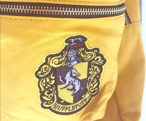 backpack, hogwarts, and yellow image