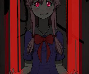 anime, mirai nikki, and future diary image