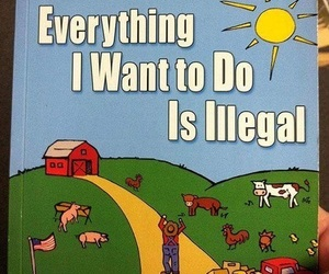 funny, illegal, and book image