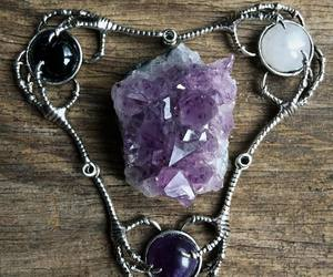 amethyst, claws, and crystals image