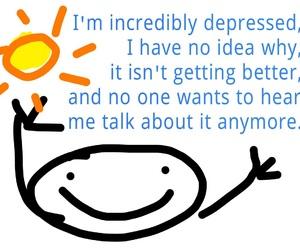 depression, depressed, and sad image