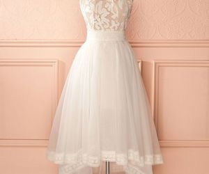 dress, prom dress, and white image