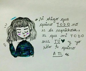 amor, dibujo, and frases image