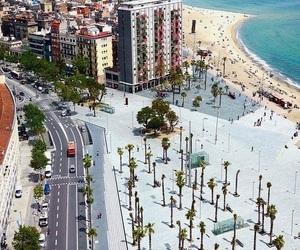 spain, Barcelona, and beach image