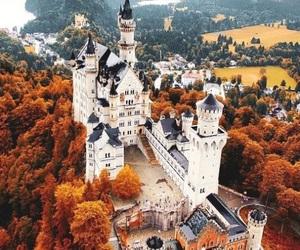castle, autumn, and fall image