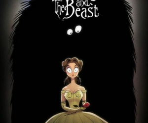 disney, tim burton, and belle image