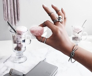 food, pink, and accessories image