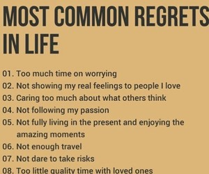 common, life, and regrets image