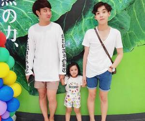 gay, happy family, and kids image
