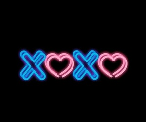 neon, xoxo, and background image
