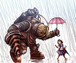 bioshock, draw, and little image