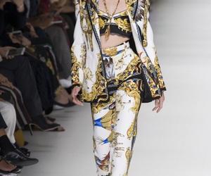 catwalk, Donatella Versace, and Versace image