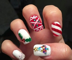 candy cane, christmas, and christmas tree image