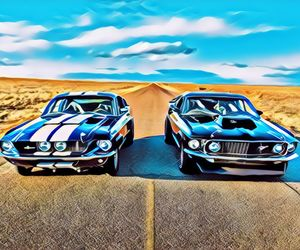 car, ford, and muscle image