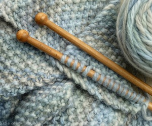 knit, scarf, and yarn image