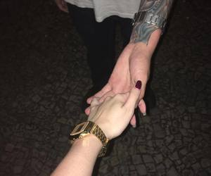 aesthetic, alternative, and holding hands image