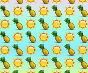 emoji, sun, and pineapple image