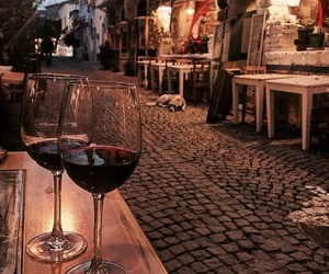wine, night, and red image