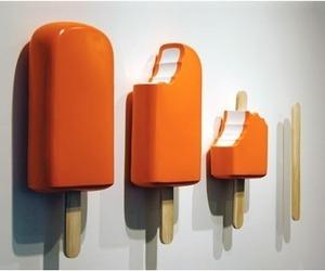orange, art, and popsicle image